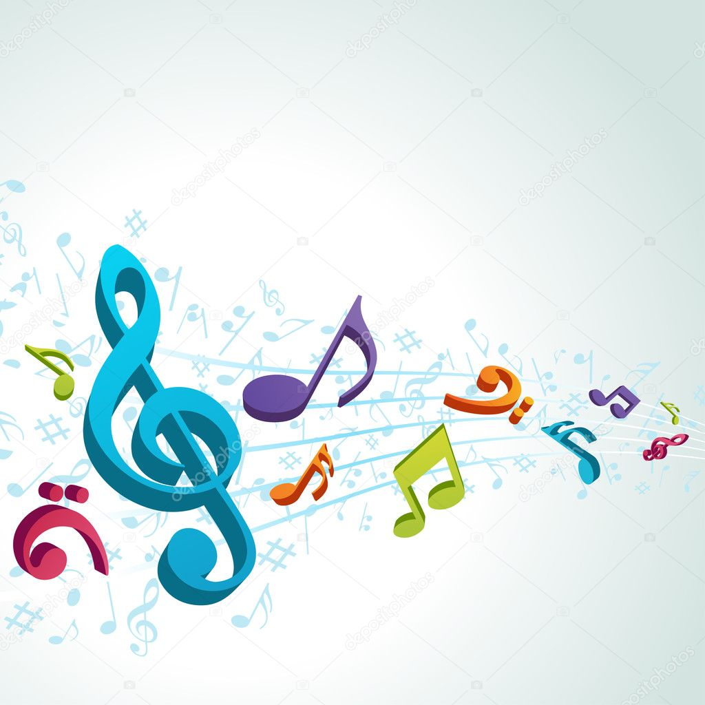 ... music notes vector background — Stock Vector © VikaSuh #6309610