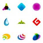 Logo design elements set — Stock Vector