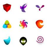 Logo design elements set 22 — Stock Vector
