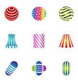 Logo designelementen instellen 16 — Stockvector