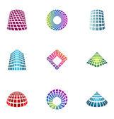 Logo design elements set 15 — Stock Vector