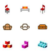 Logo design elements set 09 — Stock Vector