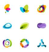 Logo tasarım öğeleri 03 ayarla — Stok Vektör