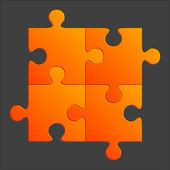 Orange puzzle vector illustration — Stock Vector