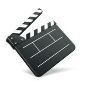 Film clap board cinema vector illustration — Stock Vector