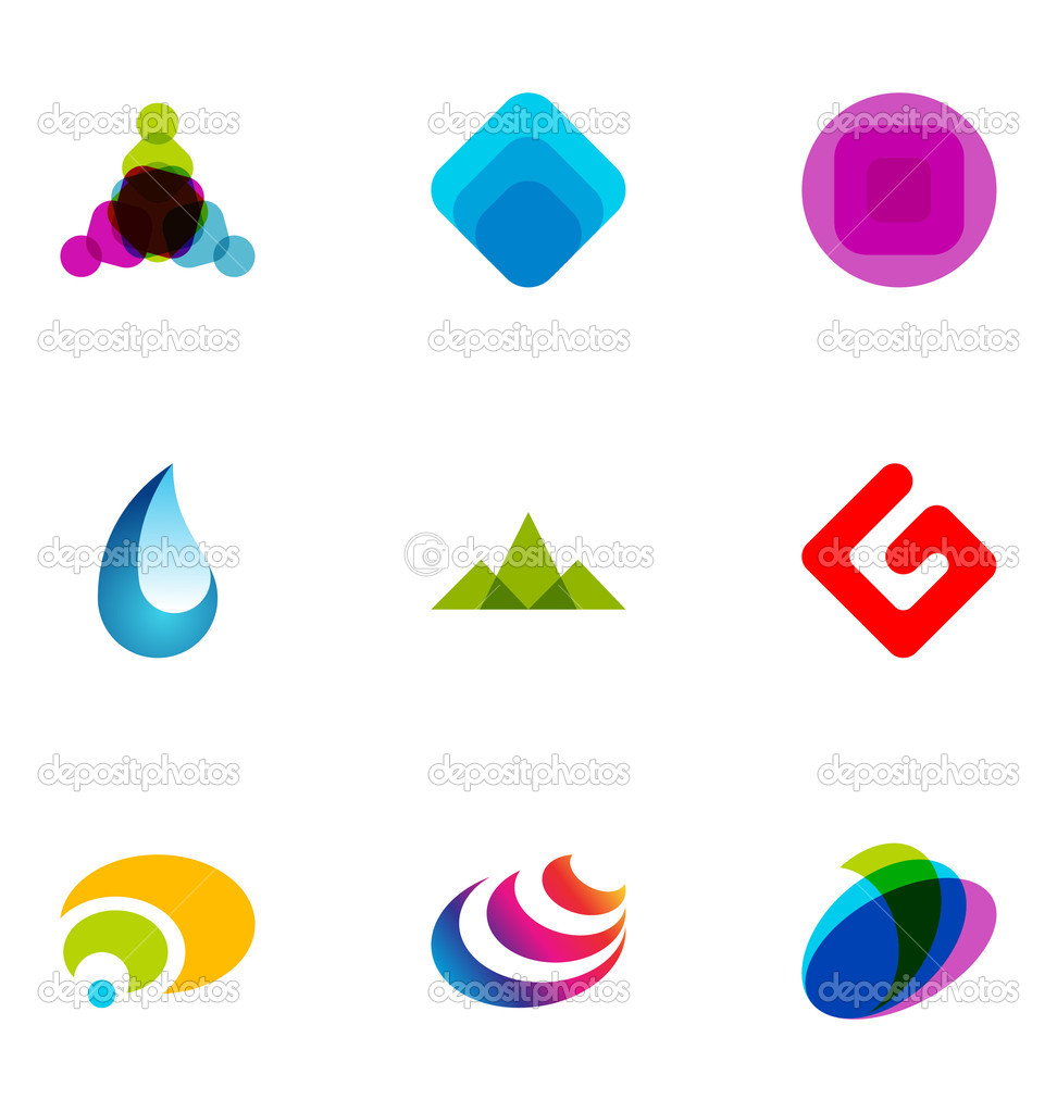 9 logo or icon design elements — Stock Vector #6316105