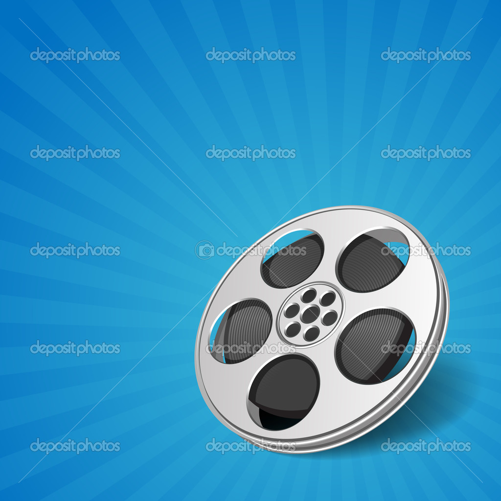 Video film tape cinema vector background. Eps 10.   Stock Vector #6316497