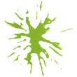 Green splat — Stock Photo