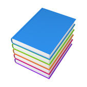 Five colors books — Stock Photo