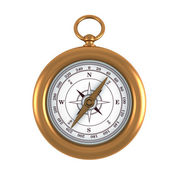 Gold compass — Stock Photo