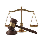 Gavel and scales — Stock Photo