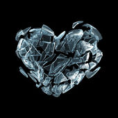Broken ice heart — Stock Photo