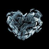 Coração de gelo quebrado — Fotografia Stock