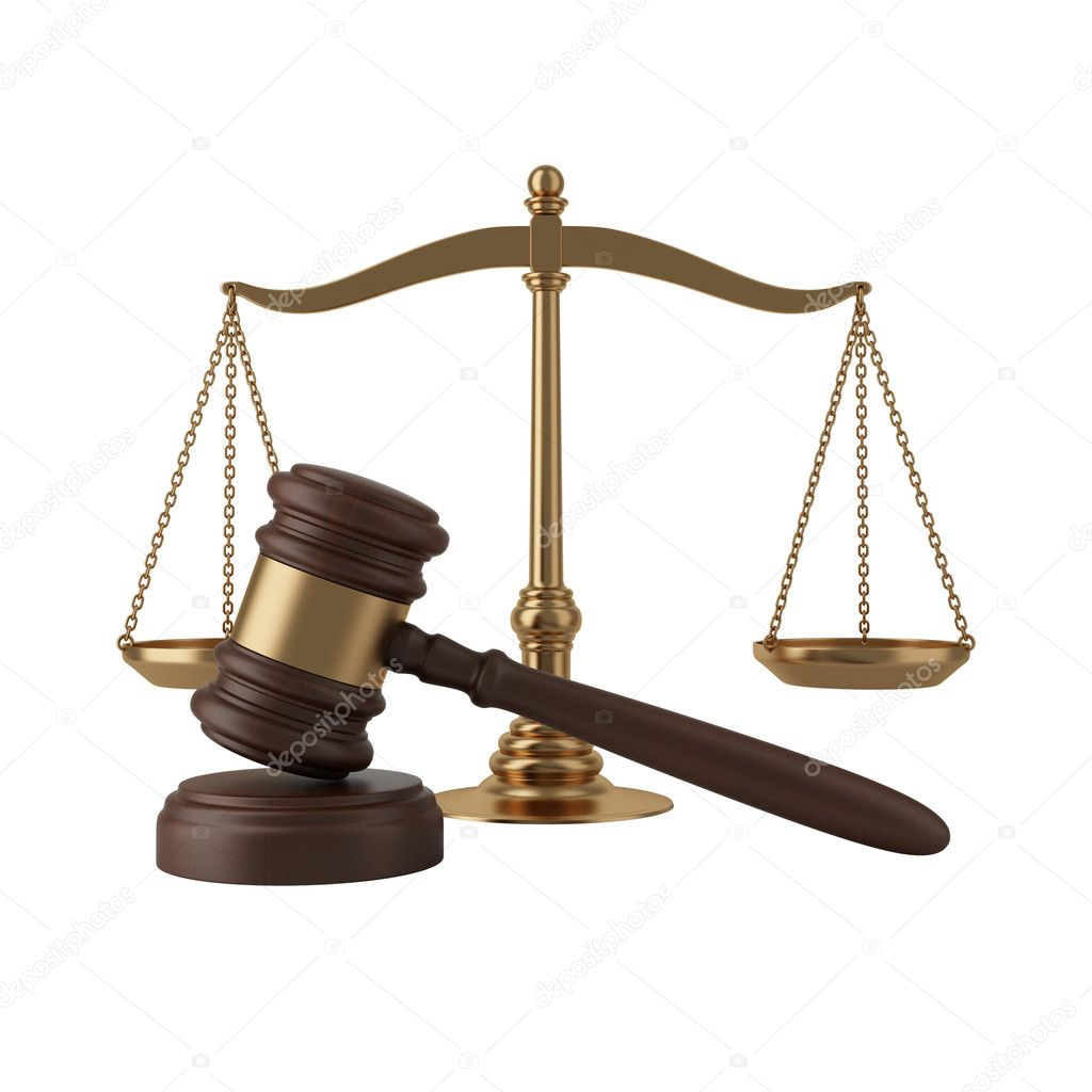 Gavel and scales — Stock Photo © VikaSuh #6337691