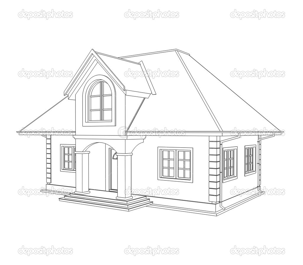 house technical draw  u2014 stock photo  u00a9 vikasuh  6337752