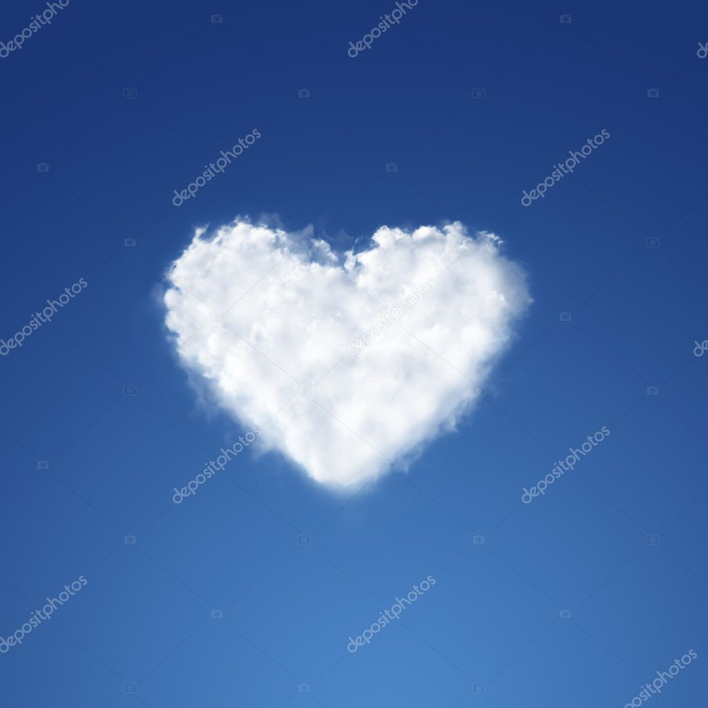 Heart from clouds on sky background — Stock Photo #6337975