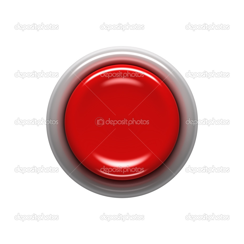 Red button isolated on white — Stock Photo #6338441