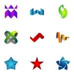 Logo design elements set 32 — Stock Vector