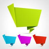 Abstract origami speech bubble set — Stock Vector