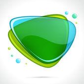 Bolla di vetro lucido astratto discorso — Vettoriale Stock