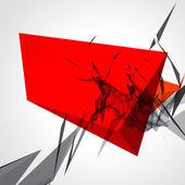 Abstrakt 3d geometriska linjer — Stockvektor