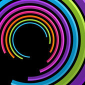 Abstract retro 3d circles lines — Stock Vector