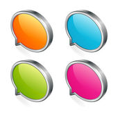 3d abstract speech bubble — Vettoriale Stock