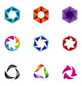 Logo design elements set 45 — Stock Vector