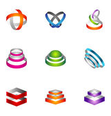 Элементы дизайна логотип набор 39 — Cтоковый вектор