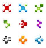 Logo design elements set 37 — Stock Vector