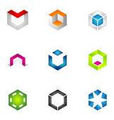 Logo design elements set 34 — Stock Vector