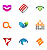 Logo design elements set 33 — Stock Vector