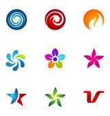 Logo design elements set 31 — Stock Vector