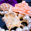 Roses and pearls sink - Stock Photo