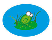 Animation froschabstrakte website banner vektor gruppe — Stockvektor