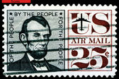 Vintage postage stamp. President USA Abraham Lincoln. — Stock Photo