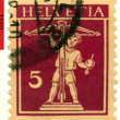 Stock Photo: Vintage postage stamp. William Tell