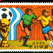Vintage  postage stamp. World  football  cup in Argentina. 1. — Stock Photo
