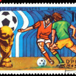 Vintage  postage stamp. World  football  cup in Argentina. 2. - Foto Stock