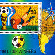 Vintage  postage stamp. World  football  cup in Argentina. 4. - Foto Stock
