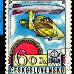 Постер, плакат: Vintage postage stamp Graf Zeppelin Airship LZ 127