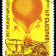 Vintage postage stamp. Air-balloon. — Stock Photo