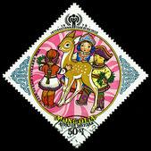Vintage postage stamp. The Children. 3. — Stock Photo