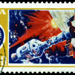 Stock Photo: Vintage postage stamp. Apollo - Alliance. Partnership.
