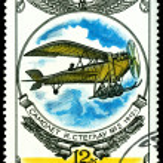 Vintage postage stamp. Old plane I. Steglau No. 2, 1912. — Stock Photo #5817230