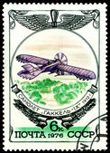 Vintage postage stamp. Old plane Gakkel IX, 1912. — Stock Photo