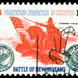 Vintage postage stamp. Battle of New Orleans. — Stock Photo