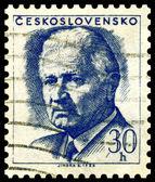 Francobollo d'epoca. Ludvik svoboda. — Foto Stock
