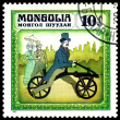 Vintage postage stamp.  Germany bicycle  1816. — Stock Photo