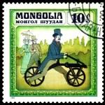 Vintage postage stamp. Germany bicycle 1816. — Stock Photo